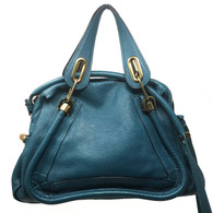 Chloé Teal Paraty Purse