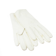 Hermès Ivory Leather Gloves