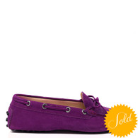 Tod's Purple Loafers