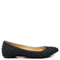 Louboutin Studded Pigalle Flats
