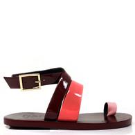 Tibi Burgundy Sandals
