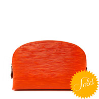 Louis Vuitton Orange Cosmetics Pouch