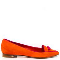 Dior Orange Flats