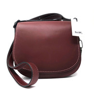 Coach Maroon Saddlebag