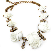 Oscar de la Renta Roses Necklace