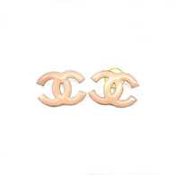 Chanel Pink CC Earrings