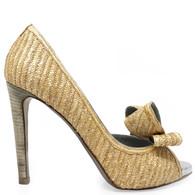 Valentino Straw Heels