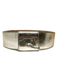 Alexander McQueen Gold Belt