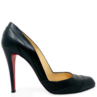 Louboutin Black Insectika 100 Heels
