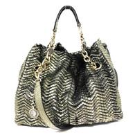 Bulgari Gold Python Handbag