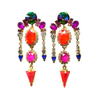Elizabeth Cole Neon Earrings