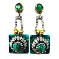 Elizabeth Cole Green Earrings