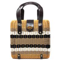 Trina Turk Raffia Handbag