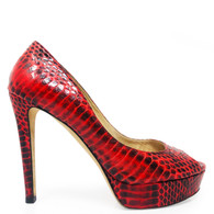 Jimmy Choo Red Snakeskin Heels