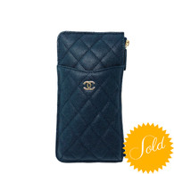 Chanel Navy Phone Wallet