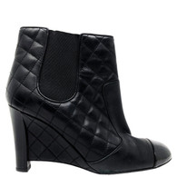 Chanel Wedge Booties
