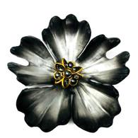 Alexis Bittar Silver Flower Brooch
