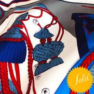 Hermès Zouaves et Dragons Scarf