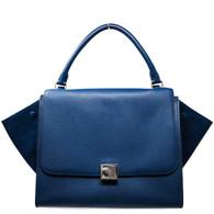 Céline Blue Trapeze Handbag