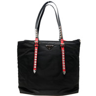 Prada Nylon Shopper with Studding