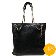 Chanel Black Quilted Tote