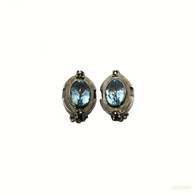 Michael Dawkins Blue Topaz Earrings