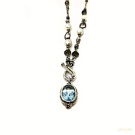 Michael Dawkins Blue Topaz Necklace