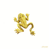 St. John Golden Frog Brooch