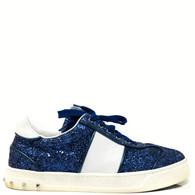 Valentino Blue Glitter Sneakers