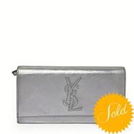 YSL Silver Wallet