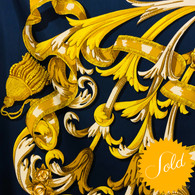 Hermès Blue Le Mors à La Conétable Scarf
