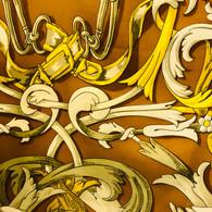 Hermès Gold Le Mors à La Conétable Scarf