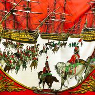 Hermès Marine et Cavalerie Scarf