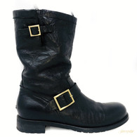 Jimmy Choo Fur Moto Boots