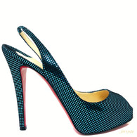 Louboutin Prive 120 Turquoise Heels