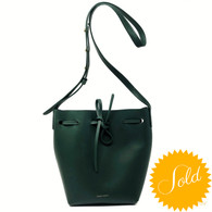 Mansur Gavriel Green Bucket Bag