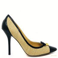 Dolce & Gabbana Straw Heels