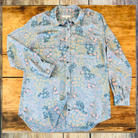 Equipment Blue Floral Top
