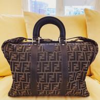 Fendi Zucca Logo Print Luggage