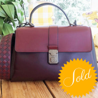 Bottega Veneta Burgundy Handbag