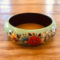 Painted Wood Bracelet