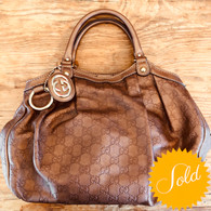 Gucci Bronze GG Purse
