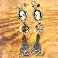 Gas Bijoux Cameo Earrings