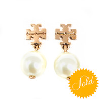 Tory Burch Rose Gold Pearl Earrings