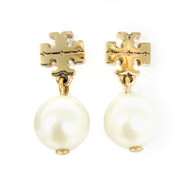 Tory Burch Gold Pearl Earrings