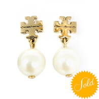 Tory Burch Gold Pearl Earrings