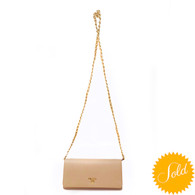 Prada Beige Crossbody Wallet