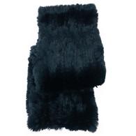Black Fur Infinity Scarf