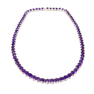 Amethyst Tennis Necklace