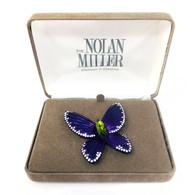Nolan Miller Butterfly Brooch